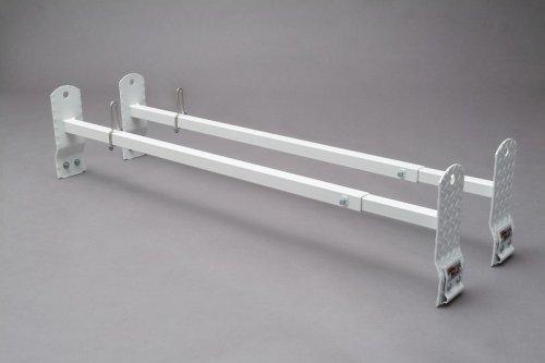 [Cross Tread Van Rack 800 Series Van Rack - 2 Cross Bars, Gutter Mounts & Ladder Positioner (800 lbs) Adjustable 52