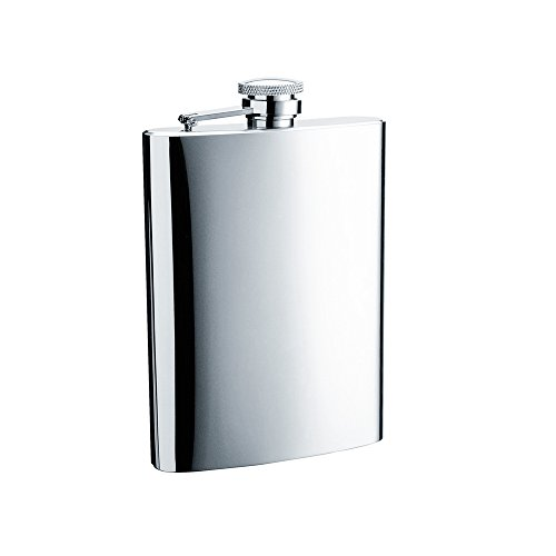 Savage 9oz Hip Flask 18/8 Stainless Steel in Mirror Finished by Savage
