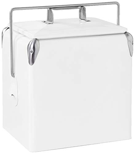 (Creative Outdoor Distributor Retro Ice Chest Cooler, White)