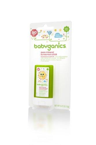 Babyganics на минеральной основе Детские солнцезащитные Придерживайтесь, SPF 50, .47oz Memory Stick (комплект из 2)