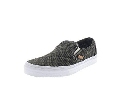 Vans Classic Slip-On CA (Washed Herringbn) unisex adulto, tela, sneaker slip on (Green / Check)