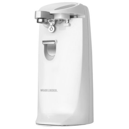 BLACK+DECKER EC475W Extra-Tall Electric Can Opener with Knif
