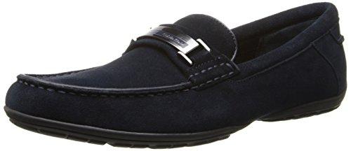 Calvin Klein Men's Wallace Suede Slip-On Loafer, Dark Navy, 11 M US