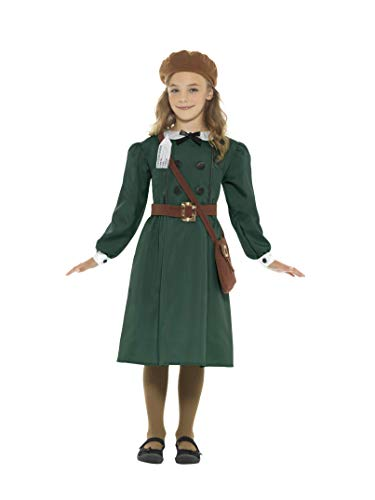 Smiffy's WWII Evacuee Girls Fancy Dress British World War 2 Book Day Childs Kids Costume (10-12 -