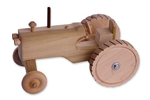 (Amish-Made Wooden Toy Tractor)