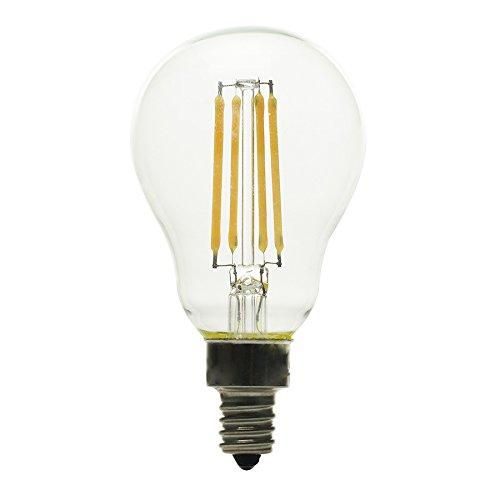 Kichler 40W Candelabra base Equivalent 4w Dimmable a15 Vintage LED Decorative Light Bulb Vintage Antique Style Light (Kichler Incandescent Candle)