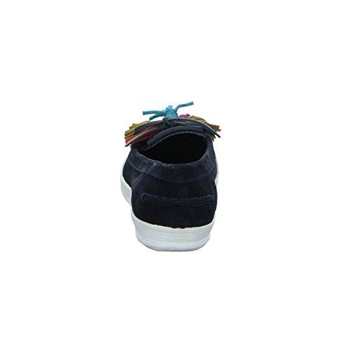 BOXX 68287 Damen Slipper Halbschuh Casual Blau (Dunkel Blau)