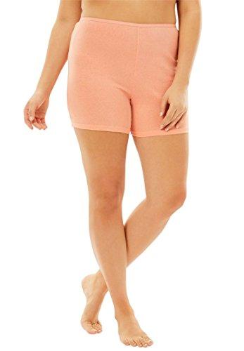 Comfort Choice Women's Plus Size 3-Pack Cotton Boyshort Pastel Pack,7