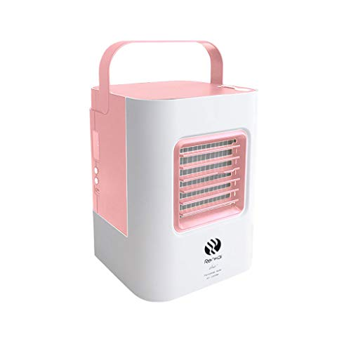 DEESEE(TM)USB Charging Air Conditioner Fan Mini Portable Refrigerator Air Cooler Nano Fan (Pink) -