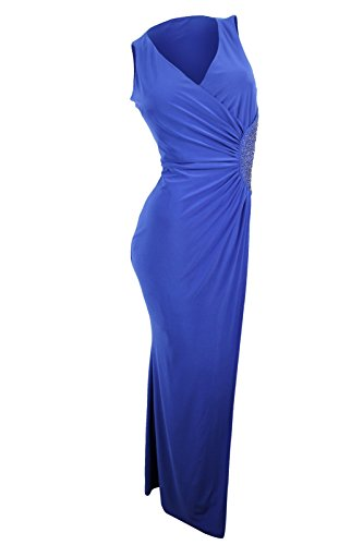 UPC 799016647322, Laundry by Shelli Segal Women's Blue Jersey Gown, 4