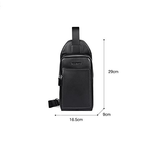 Shoulder Bag Messenger Real Black High Quality Multifunctional Strap Bags Men's Leather Haixin PZwYT0qP