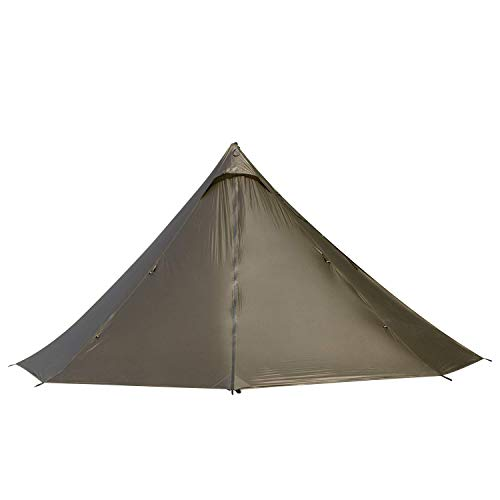 Black Orca Smokey HUT Chimney Tent – Lightweight Hot Tent, Double Heated Shelter (Coyote Brown)