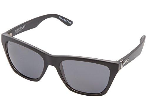 (VonZipper Unisex Booker Polarized Black Satin/Grey Poly Polar Sunglasses)