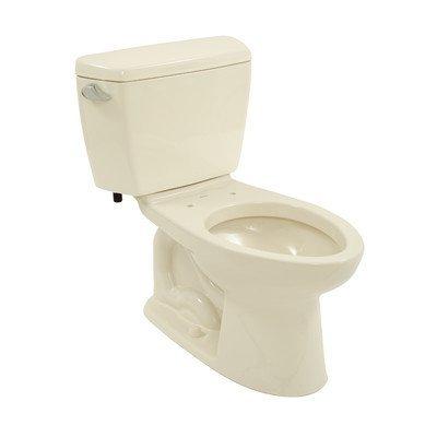 Drake Eco 1.28 GPF Elongated 2 Piece Toilet Toilet Finish: Bone, Trip Lever Orientation: Left-Hand