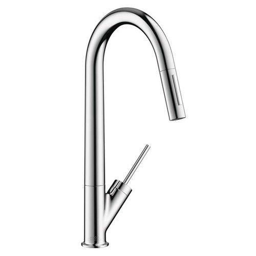 hansgrohe chrome kitchen faucet - 3
