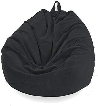WAQIA Stuffed Storage Bean Bag Chair Cover Premium Corduroy Extra Large Bean Bag for Organizing Children Plush Toys No Filler