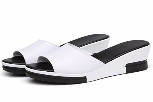 Fashions High Sandal White Wear Thick Flat Shoes KPHY Bottom Thirty Summer Slope Slippers Heels Bottom Muffin Five And Women'S qwx8Sx6t