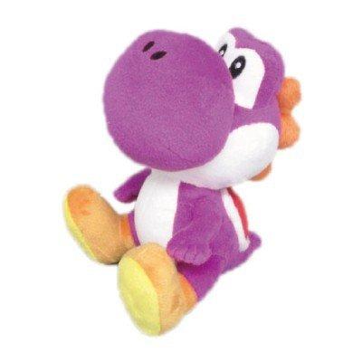 "Sanei Electric Super Mario Series 7"" Purple Yoshi Plush"