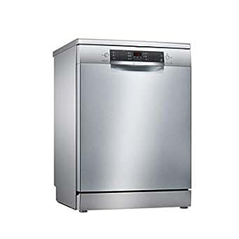 Bosch 6 Programs 13 Place Settings Free Standing Dishwasher, Silver - SMS46KI10M