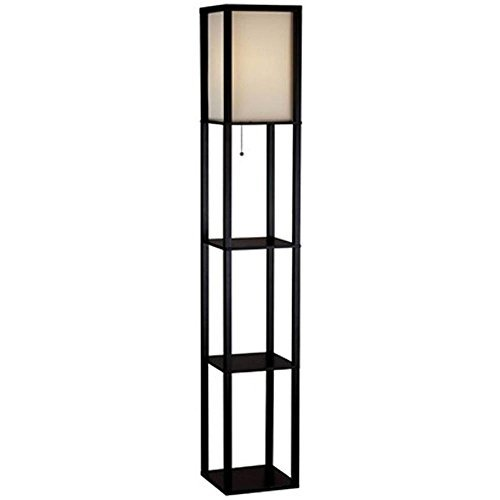 62.75 in. Black Shelf Floor Lamp