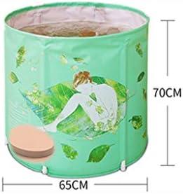 SBWFH グリーンインフレータブルバスタブ - シンプルなポータブルプラスチックバスタブ、大人折りたたみスパバスタブ