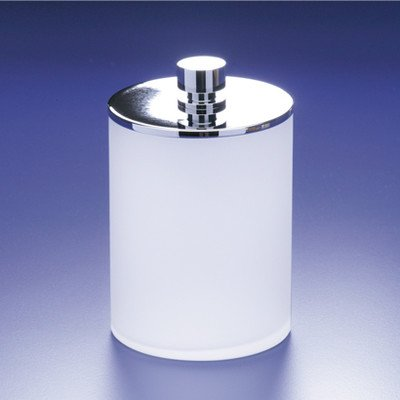 (Frozen Crystal Glass Cotton Ball Jar Finish: Satin Nickel w/ Frosted Glass)