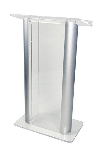 Amplivox Clear Acrylic with 2 Satin Anodized Aluminum Posts