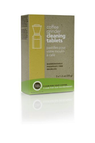 Full Circle Coffee Grinder Cleaning Tablets - 3 Single Use Packets - Coffee Grinder Cleaner Removes Coffee Residue and Oils