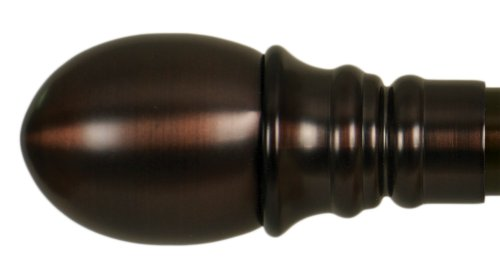 Home Decor Int'l HDI Elegant Egg Finials, Oil Rubbed Bronze, Set of 2