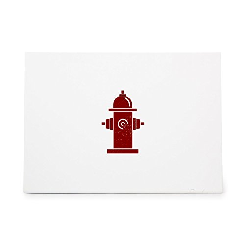 Rubber Hydrant - Fire Hydrant Safety Sidewalk Street Style 9996, Rubber Stamp Shape great for Scrapbooking, Crafts, Card Making, Ink Stamping Crafts