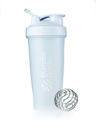 BlenderBottle Classic Loop Top Shaker Bottle, Frosted White, 28-Ounce Loop Top
