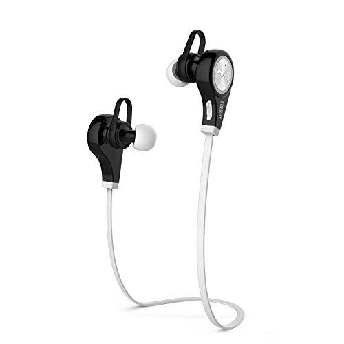 Motorola Bluetooth Headphones Manual - Bluetooth Headphones, eBerry QY9 Wireless Bluetooth Headset Sport Earbuds In-Ear Stereo Sweatproof Earphones Sports Running Headphones with Microphone for iPhone Samsung Sony Android Phones (White)