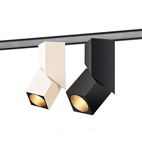 blanc 10WWarmblanc 1 PCS Moderne Art de la Mode Cube 10W Led Piste Lumière Réglable Angle Rail Lampe De Toile De Fond éclairage Bar Intérieur VêteHommests Boutique éclairage Intérieur,blanc,10WWarmblanc