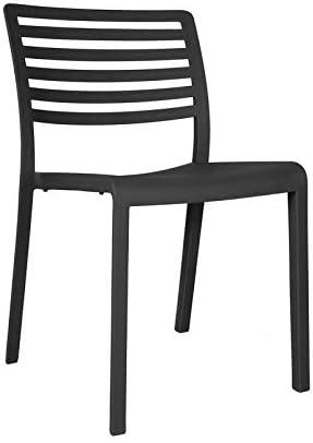 resol Set de 2 sillas de diseño Lama para Interior, Exterior, jardín - Color Gris Oscuro: Amazon.es: Hogar