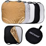 Neewer 5 in 1 Portable Square 32''Inch/80cm Multi Camera Lighting Reflector/Diffuser Kit with Grip and Carrying Case for Photpgraphy (32