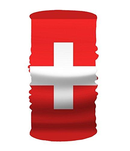 Price comparison product image Waving The Swiss Flag Headwear Sport Sweatband Yoga Head Wrap For Men Women