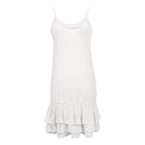 Peekaboo-Chic Classy vs Sassy Strap Slip Dress Extender (Ivory White, s/m)