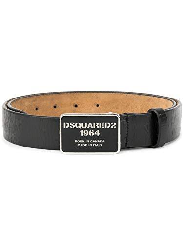 (Dsquared2 Men's Bem007620400001m084 Black Leather Belt)