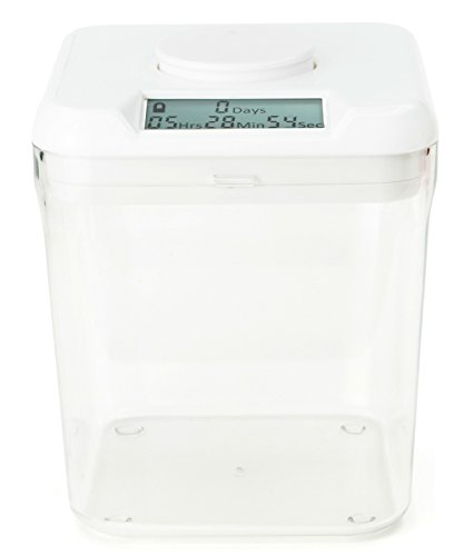 amazoncom kitchen safe time locking container white lid clear base 55 height food savers kitchen dining - Kitchen Safe