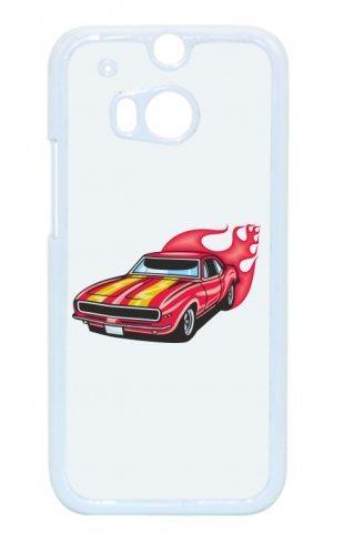 "Smartphone Case Apple IPhone 6/ 6S ""Mustang Hotrod mit Streifen und Flammen rot America Amy USA Auto Car Luxus Breitbau V8 V12 Motor Felge Tuning Mustang Cobra"" Spass- Kult- Motiv Geschenkidee Ostern"