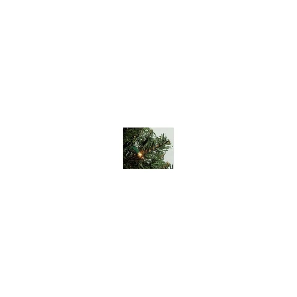 2 Pre Lit Canadian Pine Artificial Christmas Tree   Clear Light