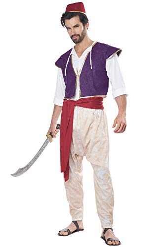 Adult Arabian Folk Hero Aladdin Disney Costume Size S/M Purple
