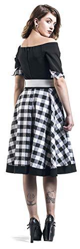blanc Pin Noir Robe Belsira up Bustier À Carreaux Rockabilly 8wwFCdq
