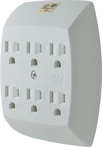 GE 54947 Grounded 6-Outlet Tap,