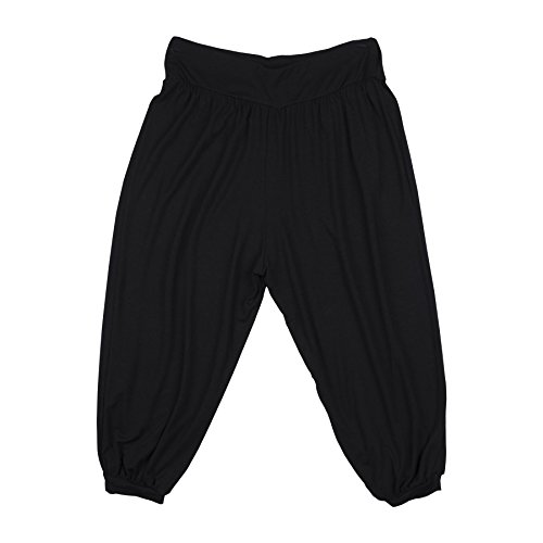 Lofbaz Kids Harem Thai Aladdin Bohemian Baggy Hippy Rayon Spandex Long Children Pants Solid Black 5/6Y (Aladdin Harem Girls)