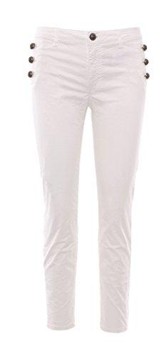 Coton Femme Jeans Rinascimento CFC0079669003WHITE Blanc wTqRxx8F