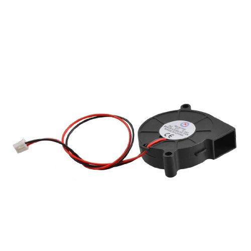 Black Brushless DC Cooling Blower Fan 5015S 12V 0.14A 50mm x 15mm