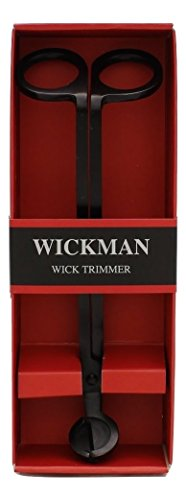 Wickman Stainless Steel Black Wick Trimmer Wtb-bl, gift box