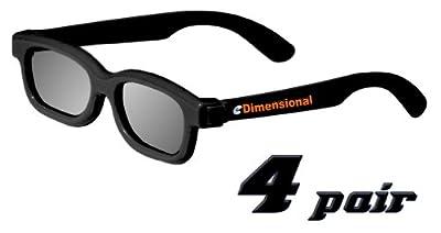 ED KIDS 4 Pack CINEMA 3D GLASSES For LG 3D TVs - Childrens Sized Passive Circular Polarized 3D Glasses