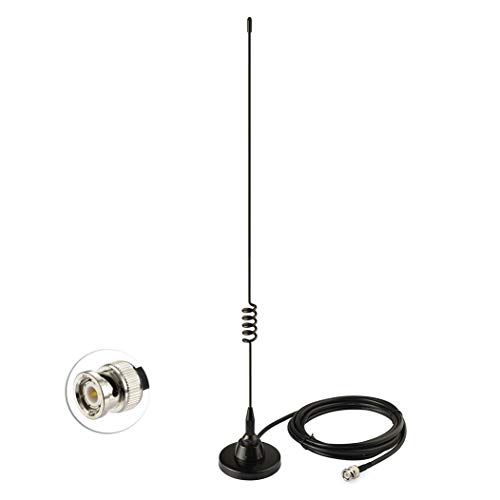 Bingfu VHF UHF Police Scanner Antenna,CB Radio Ham Radio Home Mobile Radio  Scanner Antenna,Magnetic Base BNC Male Antenna Compatible with Uniden